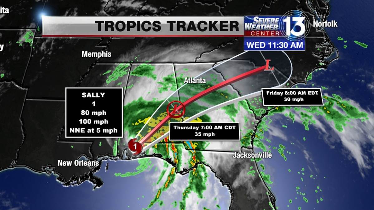 THE LATEST: Tracking Sally and its potential impact on the Mid-South