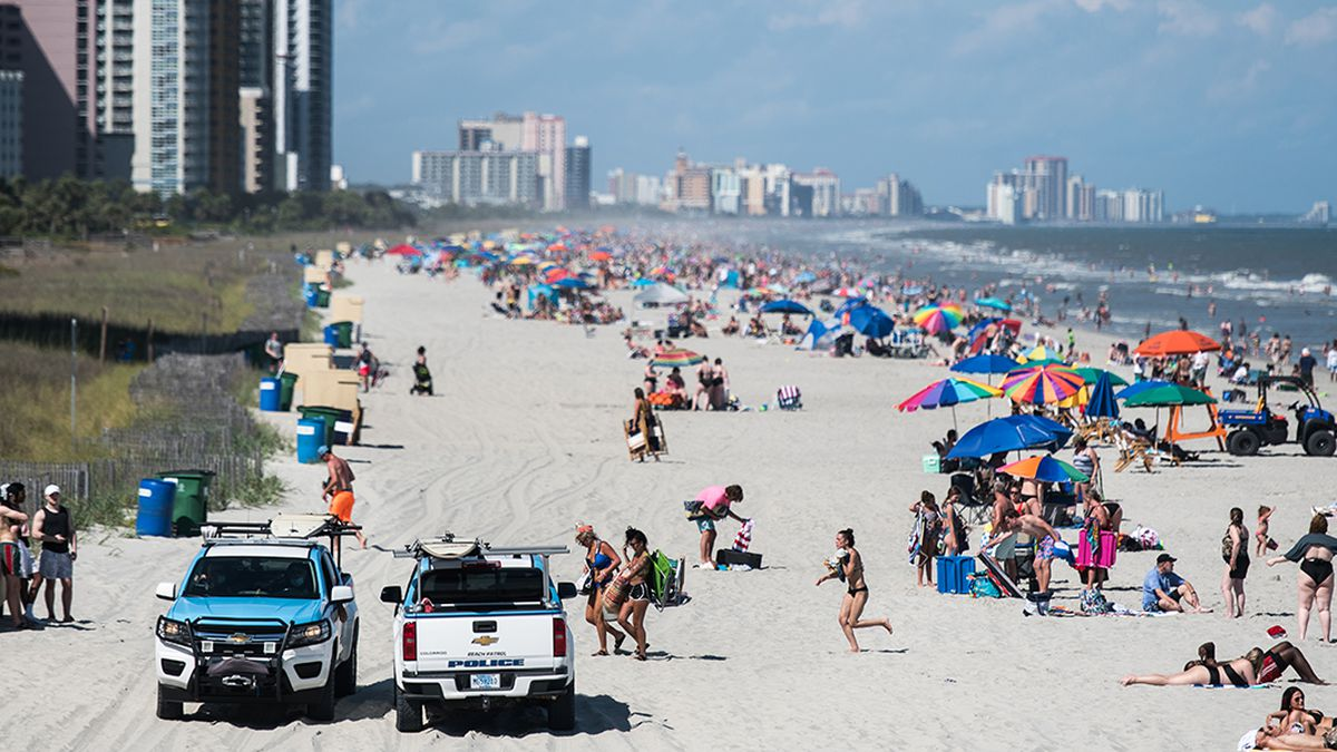 100 teens from Washington, DC-area test positive for COVID-19 after visiting South Carolina beach