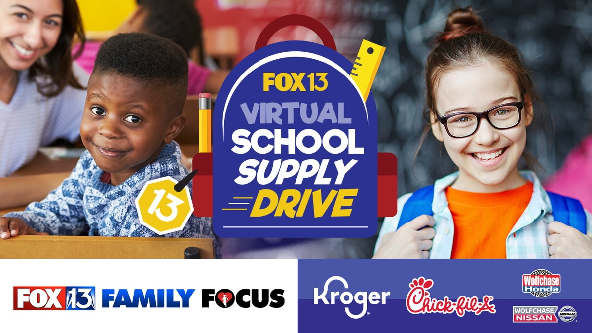 The FOX13 School Supply Drive Is Going Virtual This Year