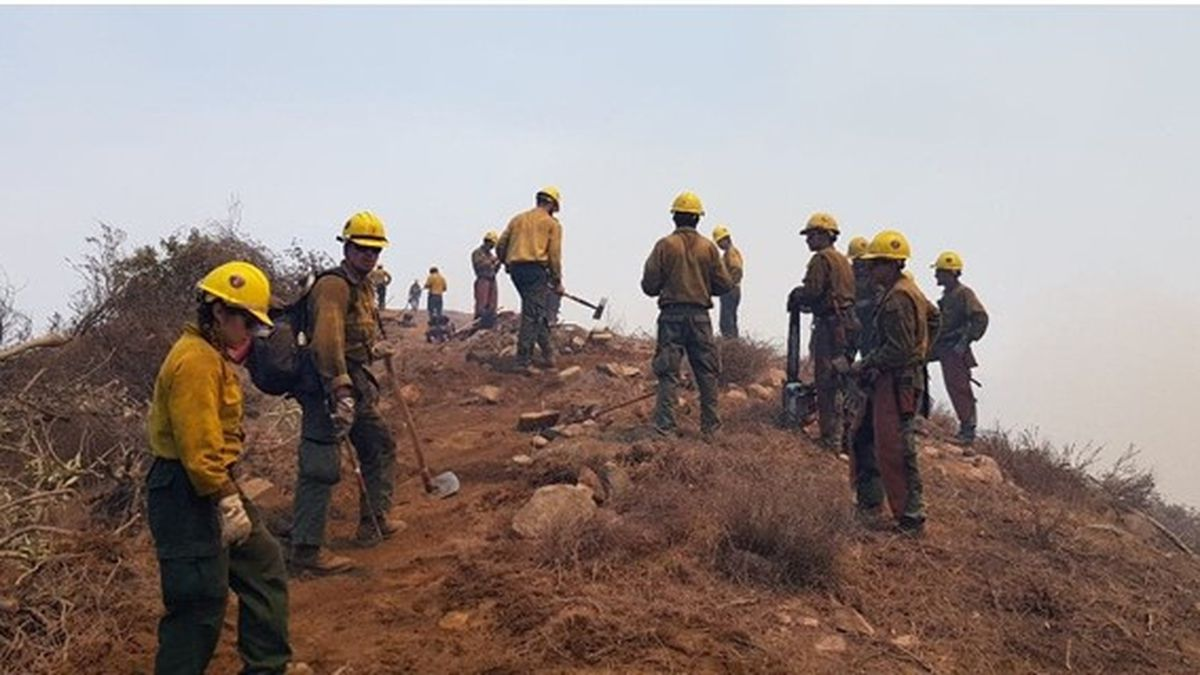 More than 100 firefighters from Mexico sent to help battle California wildfires