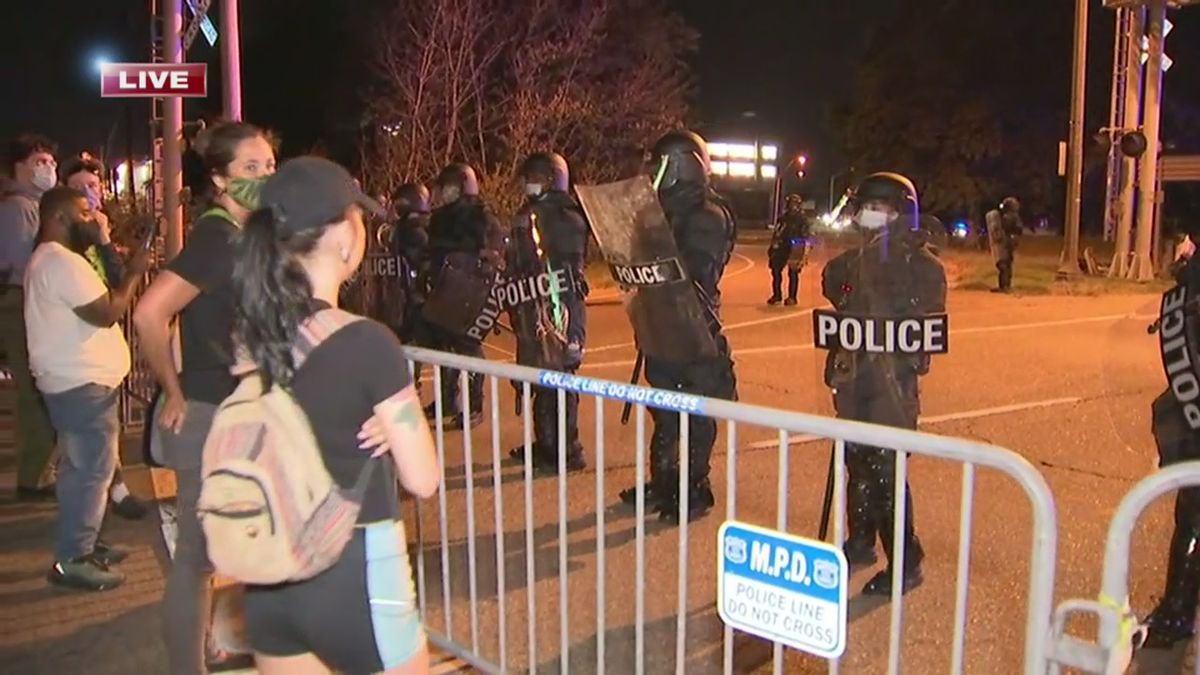 MPD releases long list of those arrested during Sunday night's protests