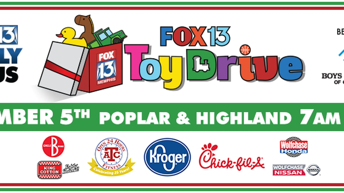 FOX13 Toy Drive 2019 - Date, time, location, and items needed