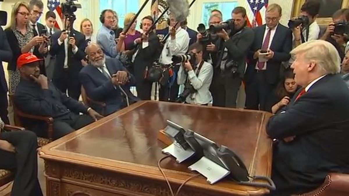 FULL VIDEO: Kanye West in the Oval Office