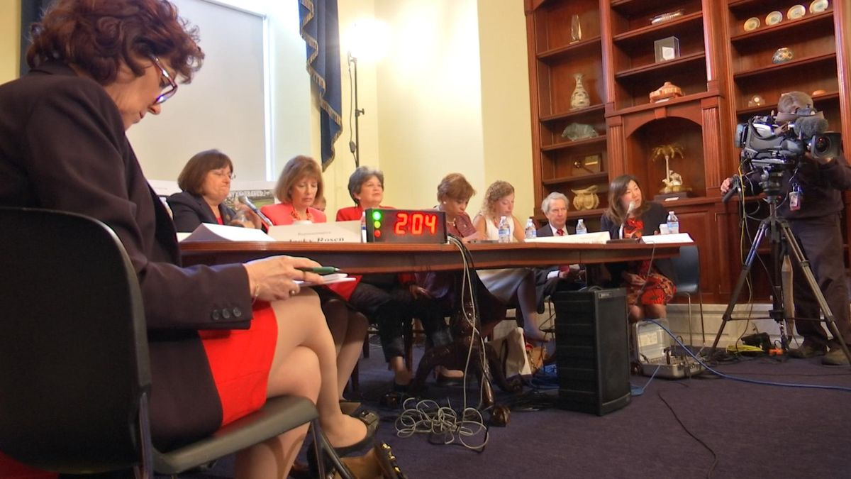Only two men in Congress show up to hear from female victims of Marine nude photo scandal