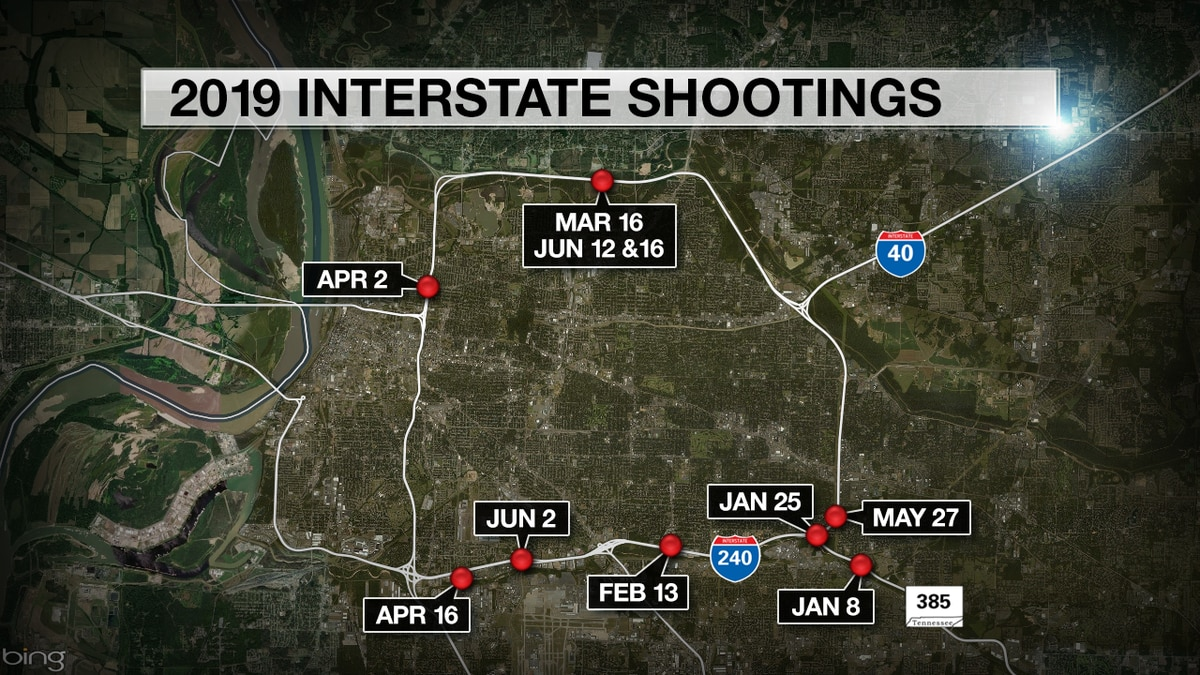 Here's a list of the road rage shootings on Memphis interstates so far in 2019